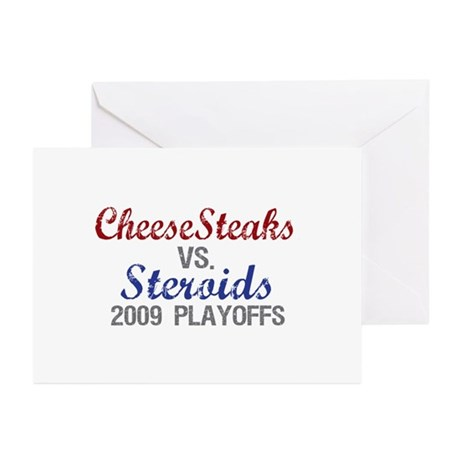 Cheesesteaks Steroids Greeting Cards (Pk of 10)