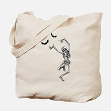 Dancing with the bats -skeleton Tote Bag