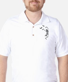 Dancing with the bats -skeleton Golf Shirt