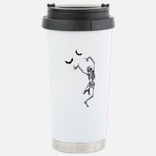 Dancing with the bats -skeleton Travel Mug