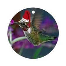Ho Ho Ho Hummingbird Ornament (Round)