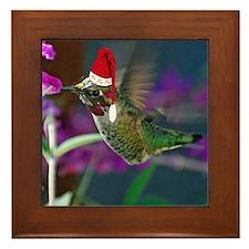Ho Ho Ho Hummingbird Framed Tile