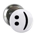 """Smiley Face Emoticon 2.25"""" Button"""
