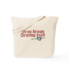 Airman's Christmas AF Fiancee Tote Bag