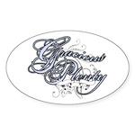 Gracious Plenty Oval Sticker
