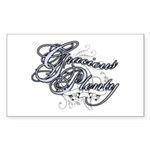Gracious Plenty Rectangle Sticker 10 pk)