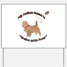 Cairn Terrier Poop Yard Sign