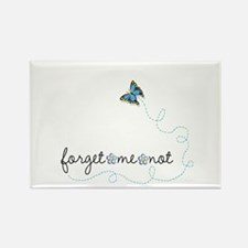Forget~Me~Not Rectangle Magnet