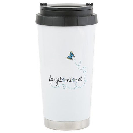 Forget~Me~Not Stainless Steel Travel Mug