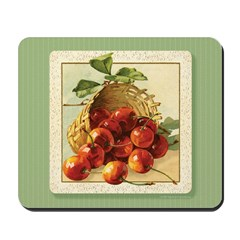 Red Cherries in a Basket Mousepad