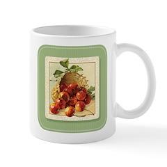 Red Cherries in a Basket Mug