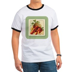 Red Cherries in a Basket T-shirt