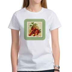 Red Cherries in a Basket Women's T-Shirt
