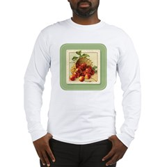 Red Cherries in a Basket Long Sleeve T-Shirt