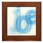 The Name is Joe Framed Tile
