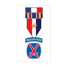 10th MTN GWOT Service Rectangle Decal
