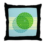 Spirolap Blue Throw Pillow