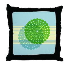Spirolap Blue Throw Pillow