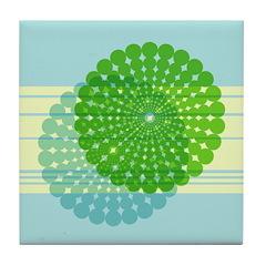 Spirolap Blue Tile Coaster