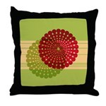Spirolap Red & Green Throw Pillow