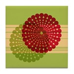Spirolap Red & Green Tile Coaster
