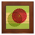 Spirolap Red & Green Framed Tile
