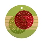Spirolap Red & Green Ornament (Round)
