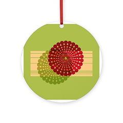 Spirolap Red & Green Ornament (Round)