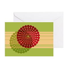 Spirolap Red & Green Greeting Cards (Pk of 20)