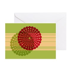 Spirolap Red & Green Greeting Cards (Pk of 20)