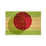 Spirolap Red & Green Rectangle Magnet