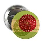 """Spirolap Red & Green 2.25"""" Button"""