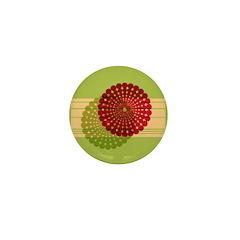 Spirolap Red & Green Mini Button