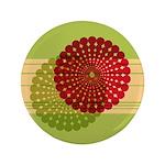"""Spirolap Red & Green 3.5"""" Button"""