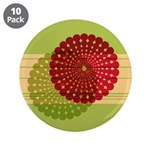 "Spirolap Red & Green 3.5"" Button (10 pack)"