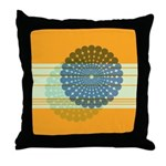 Spirolap Blue & Orange Throw Pillow