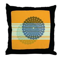 Spirolap Blue & Orange Throw Pillow