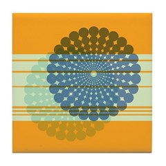 Spirolap Blue & Orange Tile Coaster