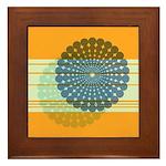 Spirolap Blue & Orange Framed Tile