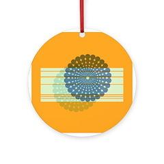 Spirolap Blue & Orange Ornament (Round)