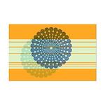 Spirolap Blue & Orange Mini Poster Print