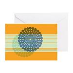 Spirolap Blue & Orange Greeting Cards (Pk of 1