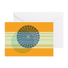 Spirolap Blue & Orange Greeting Cards (Pk of 2