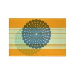 Spirolap Blue & Orange Rectangle Magnet (100 p