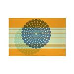 Spirolap Blue & Orange Rectangle Magnet