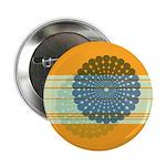 """Spirolap Blue & Orange 2.25"""" Button"""