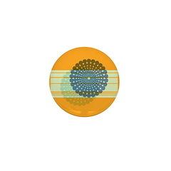 Spirolap Blue & Orange Mini Button