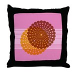 Spirolap Pink Throw Pillow