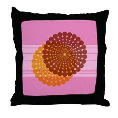 Spirolap Pink Throw Pillow