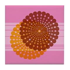 Spirolap Pink Tile Coaster